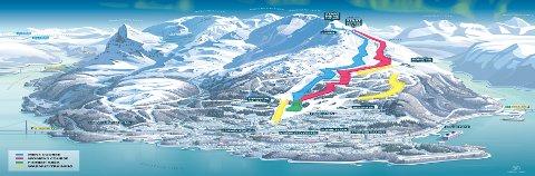 SLIK PRESENTERES NARVIK: Dette er en av illustrasjonene som er utarbeidet for å presentere VM 2027-kandidaten Narvik.