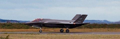 RYGGE: F-35 skal få motordepot på Rygge. (Foto: Ned Alley / NTB scanpix)