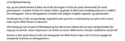 Dal Gård anslår selv til Arbeidstilsynet at det er omtrent 200 personer som har skrevet under på denne frivillighetserklæringen. Foto: Tilsynsrapport fra Arbeidstilsynet