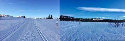 To ulike: Her i same kommune, Nord-Aurdal båe to, køyrer Leirin Skiløyper flotte spor, medan Aurdal og Kruk Løypelag har sagt stopp inntil vidare.