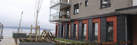 Populært: Strandholmen nord for hotellet er en ny populær bydel.arkivfoto