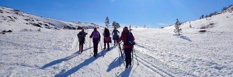 SKIFØRE: Det er fortsatt godt skiføre på Knaben, og mer snø er meldt denne uken.