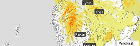 FAREVARSEL: Meteorologisk institutt advarer mot svært kraftige vindkast på fredag.