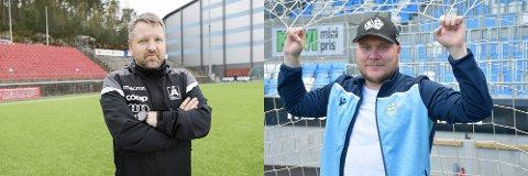 Morten Røssland har hatt enorm suksess etter han overtok Åsane før 2019-sesongen. Tirsdag står Steffen Landro og Sandnes Ulf på motsatt halvdel.
