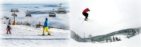 Våre to største skisentre har allerede solgt sesongkort i bøtter og spann. Norefjell skisenter til venstre og Kongsberg skisenter til høyre ligger så langt foran fjoråret.