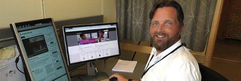 ENKLERE: Jon-Espen Sjøstrøm, prosjektleder for lokal innføring/ibruktakelse i Sykehuset Østfold, sier det skal bli enklere og raskere for pasienter å fp tilgang til egne helseopplysninger.