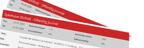 På den offentlige postjournalen er personopplysninger fjernet, eller «avskjermet», som det heter. Det var ikke tilfelle med den interne oversikten som feilaktig ble lagt ut.