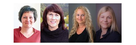 F.v. Rose Rølvåg, Jeanette Pedersen, Grete Mo og Elin Grønvik.