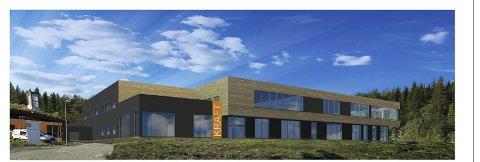 Slik ser bliur den nye hallen man bygge i forbindelse med Krafthallen seende ut.