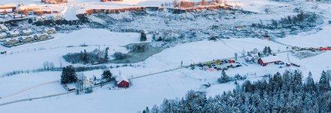 TRAGEDIE: Dronebilde fra rasområdet på Ask i Gjerdrum fotografert 3. januar 2021.