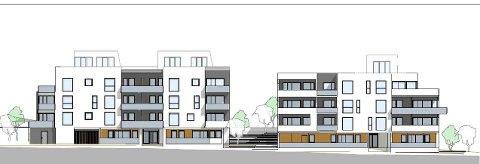 Skisse av Enter Eiendoms planlagte leilighetsbygg.