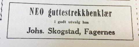 Annonse fra Oppland Arbeiderblad 23. februar 1967