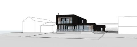 ILLUSTRASJON: – Boligen har gode visuelle kvaliteter både i seg selv og i forhold til bygde og naturlige omgivelser og plassering, skriver arkitekten i søknaden.