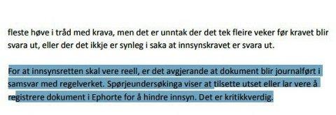 INNSYNSRETTEN UTHULES: Seljord kommune får kritikk fra Telemark kommunerevisjon for å hindre innsyn i kommunale dokumenter.