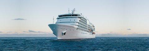 MS «Seven Seas Navigator» blir å finne langs kaia i Kristiansund torsdag.