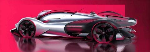 KONSEPTBIL. En av mange konseptbiler som Erik Sætre har laget utkast til.