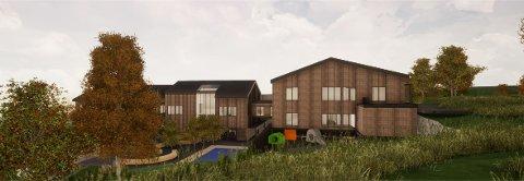 STEINERUD BARNEHAGE: Illustrasjonen viser øvre del av lekearealet. Ill.: EFLA/Architectopia/AT Plan & Arkitektur