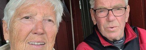 ENDTE GODT: Ola Aune (78) er i god form vel to måneder etter hjerteinfarktet på hytta ved Skjækervatnet. K