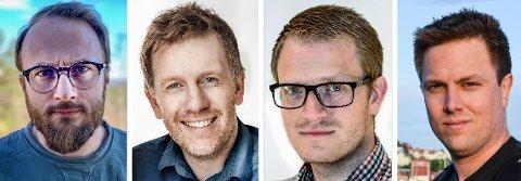FIRE KARAR SOM IKKJE VISSTE: Dei fire forskarane oppdaga at dei visste for lite om sosial kontakt på nettet. Difor valde dei å forske på det. Frå venstre: Marius Veseth (40), Christian Moltu (41), Jone Bjørnestad (37) og Tore Tjora (40).