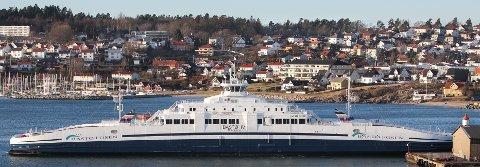Bastø Fosen. Bastø IV ble satt inn i ferjesambandet Moss-Horten fra 1. januar 2017.