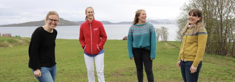 STARTER IKKE OPP: Tonje Børseth Barca (t.v), Sigrid Fosse, Sigrid Karlstrøm og Jorunn Olsen Teigland publiserte den triste nyheten lørdag.