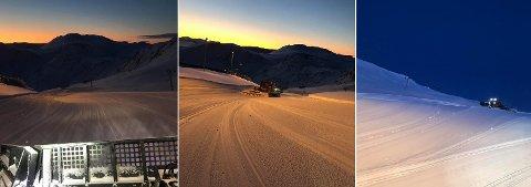 VAKKERT: Det mangler ikke på fin utsikt når man driver og prepper alpinbakken i Nordvågen.