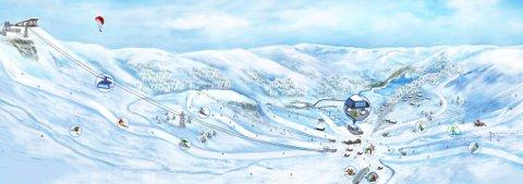 STORE PLANER: Den planlagte «Folkeheisen» i Djuvsbotn i Sauda skal ta både skigåere og turister til fjells både sommer og vinter.