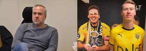 Tom Rune Espedal og Kent Håverd Eriksen i sin nye klubb.
