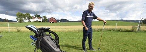 I USA: Jørgen Lie Viken har nå forlatt vakre sandsværbygder til fordel for fire års golfspill og utdannelse i Orego i USA.ALLE FOTO: OLE JOHN HOSTVEDT
