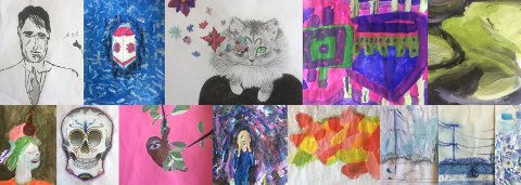 VISNING: Elever ved Røyken Kulturskole har utstilling i Slemmestad sentrum lørdag.