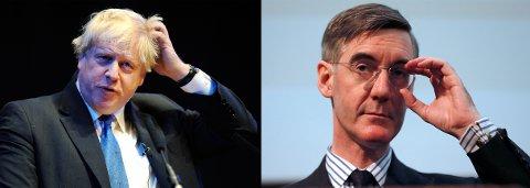 ALT VAR BEDRE FØR? Har Boris Johnson (til venstre) og Jacob Rees-Mogg brukt for mye tid på gamle bøker med svart/hvitt-fotografier?