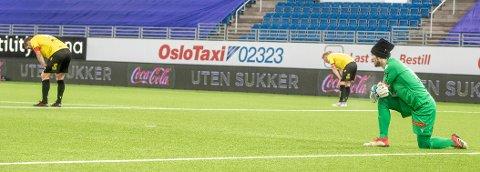 Oslo 20201222.  Start forviler under siste runde i eliteserien 2020 mellom Vålerenga og Start på Intility stadion Foto: Terje Pedersen / NTB