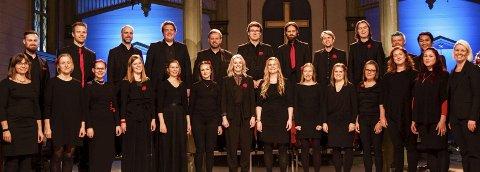 Bocca: Kammerkoret Bocca har med seg gjester når de synger i  Vår Frelsers kirke.