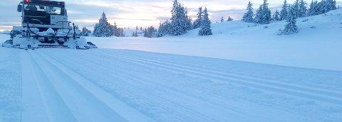 LØYPETRASÉ: På grunn av vinterbrøyting av Brattbakken på Nordfjellstølen har løypelaget måtte gjøre litt om på traseen de velger gjennom området. Løypelaget kjører opp skiløyper på til sammen 150 kilometer i et område som berører omtrent 2500 hytter.