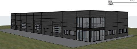 NYTT LAGERBYGG: Rakkestad Tre og Betong AS vil bygge nytt lagerbygg på 942 m2.