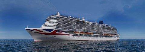 Slik ser Iona, det nye skipet til P&O Cruises, ut.