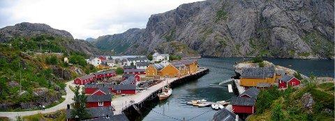 Arkivfoto av Nusfjord.