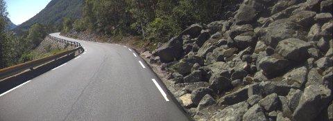 B&G FÅR JOBBEN: Bertelsen & Garpestad AS skal oppgradere denne veien i Ryfylke for nærmere 10 millioner kroner.
