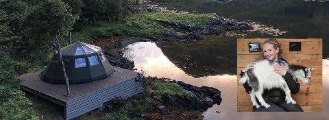 Her er gammen i Rolvsfjord hvor man kan slappe av og ta livet med ro.