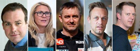 MIF-TILHENGERE: Fra v.: Kristoffer Reinsfelt Arnesen, Monica Myrvold Berg, Clas Brede Bråthen, Mads Hansen og Ole Kristian Stoltenberg.