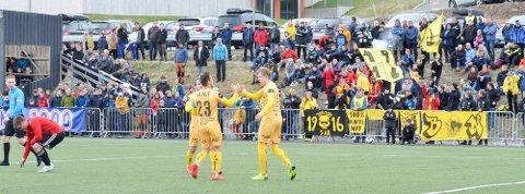 Slik så det ut da Glimt spilte første runde i cupen i 2019. Da vant Glimt 8-0 borte mot Åga. Nå venter Rana FK, men koronarestriksjoner gjør at arrangøren må sette begrensing på antall tilskuere.