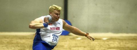 Nyoperert: Marcus Thomsen viste god form i vinter og satte blant annet personlig rekord med 20,58 meter.