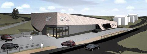 ILLUSTRASJON: Den gamle Coop Marked butikken på Krøderen skal rives. I stedet skal det bygges en dobbelt så stor Coop Prix butikk.