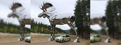 Onsdag la politiet i Innlandet ut dette bildet på sin Facebook-side. Det fikk flere til å reagerer.