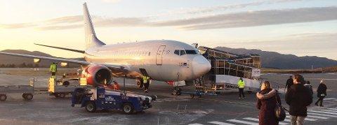 Alle SAS-flygninger til og fra Kristiansund er innstilt fredag.