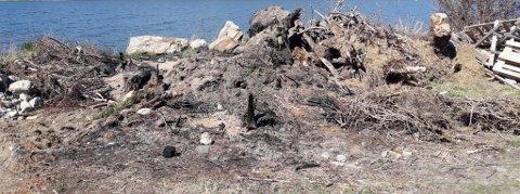 Dumping: Det er funnet flere plasser hvor det er dumpet avfall langs Vågåvatnet.Foto: Vågå og Sel landbrukskontor