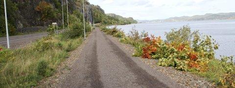 Til kommunen: Bane NOR har overdratt kystlinja langs den nye turveien til Holmestrand kommune.