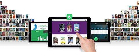 DIGITALE BØKER: Bookbites kan lastes ned i App Store og Google Play. (Skjermdump fra Bookbites' hjemmeside)