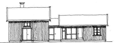 Skisse: Slik tenker man seg et påbygg på det gamle Svendsrødhuset. Illustrasjon: Spir Arkitekter
