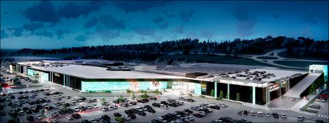 Hele Torp kjøpesenter blir oppgradert med blant annet parkering på taket.